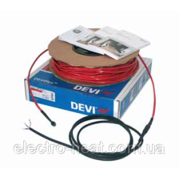 Купити 11,8-14,8 м2. Тепла підлога. Нагрівальний кабель DEVIflex™ 18Т, замовити онлайн 11,8-14,8 м2. Тепла підлога. Нагрівальний кабель DEVIflex™ 18Т за низькою ціною - 8979грн.