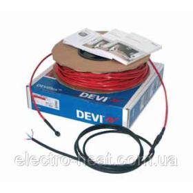 7,4-9,3 м2. Тепла підлога. Нагрівальний кабель DEVIflex™ 18Т