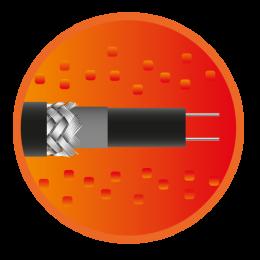 Секция саморегулирующегося кабеля e-HeatGutter - 9м