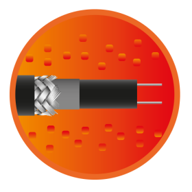 Секція саморегулюючого кабелю e-HeatGutter-9м